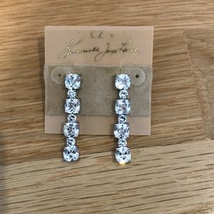 CZ by Kenneth Jay Lane diamond drop earrings